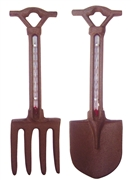Cast Iron Fork / Spade Thermometer