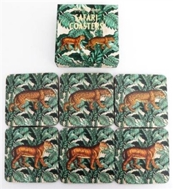 Set Of 6 Wooden Animal Design Coasters