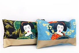 Large Canvas Geisha Toiletry Bag 2 Assorted designs