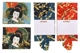 Small Magnetic Note Pad with 2 Assorted Wonderful Geisha Design