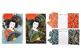 Large Magnetic Note Pad with 2 Assorted Wonderful Geisha Design