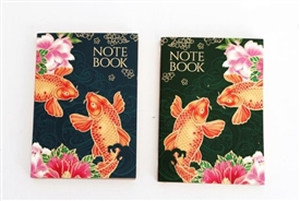 Colourful A6 Notepad with 2 Assorted koi Fish Designs