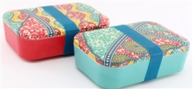 Batik Bamboo Lunch Box 2 Assorted 18cm