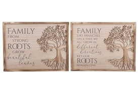 Paulownia Wood Tree Of Life Plaque 40cm 2 Assorted Designs