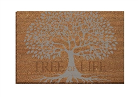 Tree Of Life Coir Door Mat 60cm