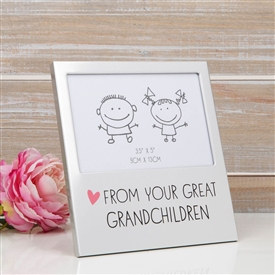 Aluminium Photo Frame Great Grandchildren 15cm