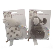 Cute Elli & Raff Teether/Rattle - 2 Assorted