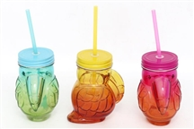 REDUCED Toucan Drinking Jar 3 Assorted 400ml - 13.5cm