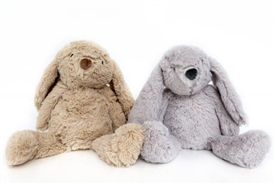 Plush Bunny Doorstop 2 Assorted 21cm
