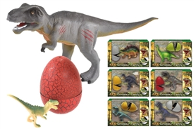 Dinosaur Family with Egg 6 Assorted