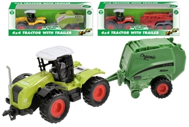 Die Cast Tractor with Trailer 3 Assorted