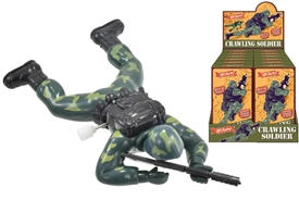 Retro Crawling Soldier Wind Up Toy