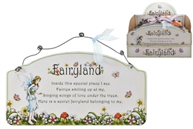 Fairyland Wooden Wall Plaque 4 Assorted