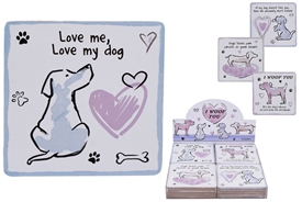Dog Coasters 4 Assorted (SOLD IN 4's)