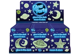 Fun Glow In The Dark Plastic Stickers 3 Assorted Designs Priced Individually