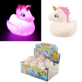 Unicorn Light Up Bath Time Toy 6cm
