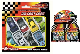 Fab Collection Of 8 Diecast Car Toys