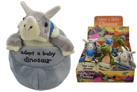 Plush Adopt Your Own Dinosaur In An Egg 3 Assorted Priced Individually