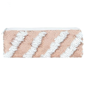 Rose Gold Reversible Sequin Pencil Case 22cm