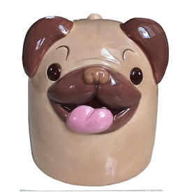 Upside Down Pug Ceramic Mug
