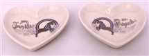 Unicorn Heart Trinket Dish 2 Asst 10cm