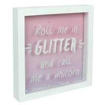REDUCED Roll Me In Glitter Box Frame 20cm