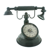 Vintage Telephone Design Mantel Clock