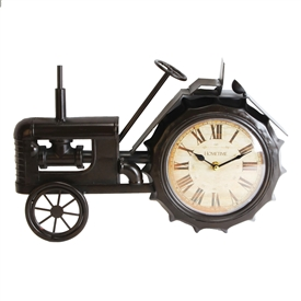 Black Tractor Mantel Clock