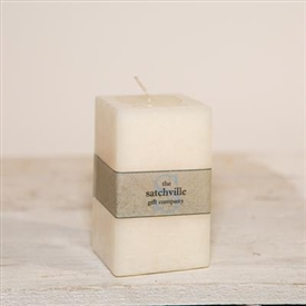 Small Unscented Square Candle 10cm