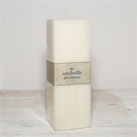 Large Unscented Square Candle 20cm