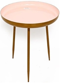 Pink Enameled Table 45cm