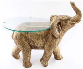 Large Bronze Elephant Table 70cm