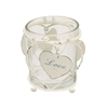Love Tea Light With Hanging Hearts