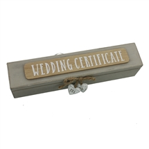 Wedding Certificate Holder With Mr And Mrs Hearts
