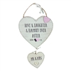 "Double Hanging ""Mr & Mrs"" Love Story Plaque"