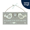 Rustic Wooden Hanging Mr & Mrs Plaque