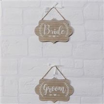 Love Story Set Of 2 Bride And Groom Plaques