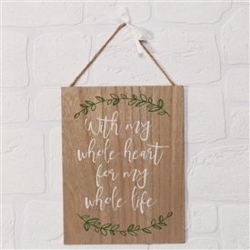 Whole Heart Plaque 27cm