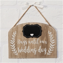 Love Story Wedding Countdown Plaque 20cm