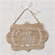 Love Story Happily Ever After Plaque 20cm