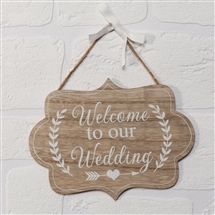 Love Story Welcome To Our Wedding Plaque