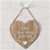 True Love Story Heart Plaque 14cm
