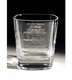 Jack Daniels 150th Anniversary Whisky Glass Tumbler in Gift Box