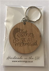 Wishstrings Mermaid Wood Keyring
