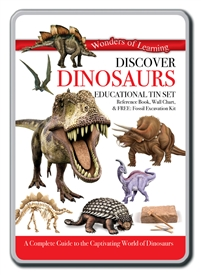 Educational Tin Set Dinosaur