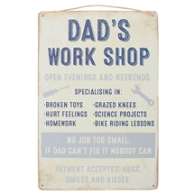 Dads Workshop Plaque