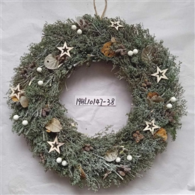 Frosted Farmhouse Wreath with Stars