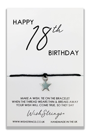 Wishstrings 18 Birthday Bracelet