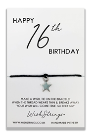 Wishstrings 16 Birthday Bracelet