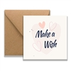 Make a Wish Heart Card 11cm